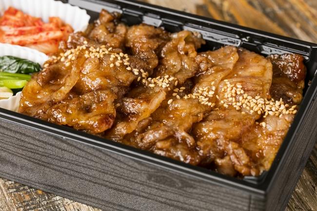 KINTAN上カルビ弁当 ¥1,500 黒毛和牛上カルビが90g入ったボリューム満点のお弁当
