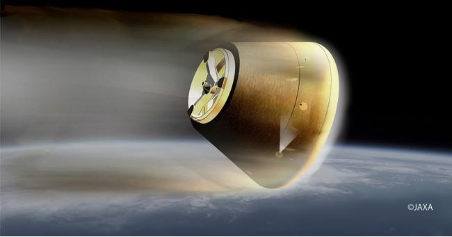 小型回収カプセル再突入イメージ