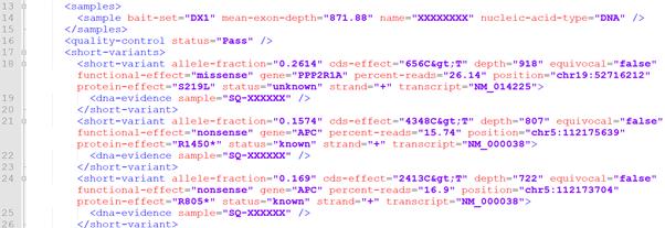 XMLファイルをテキストエディタで開いた状態