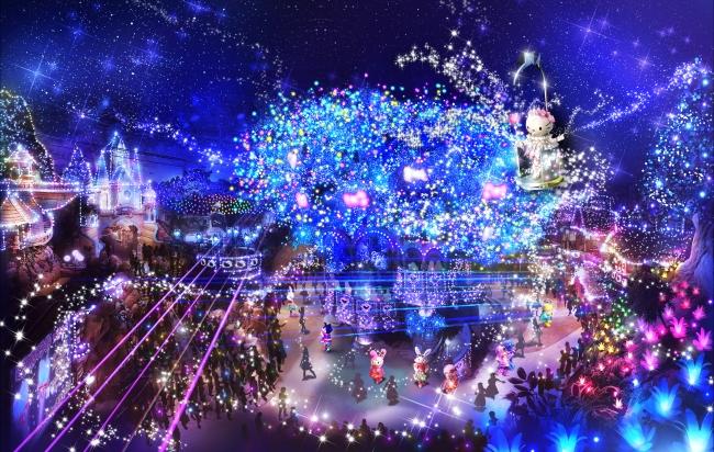 50万球の電飾が輝くイルミネーションイメージ