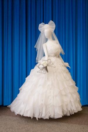 特別に制作されたコラボウェディングドレス