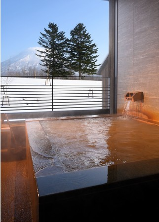 全室、源泉かけ流し露天風呂付。湯底が見えないほどの湯の花、濃厚な泉質です