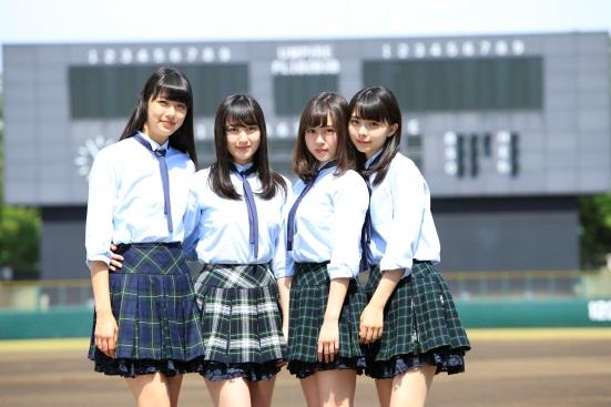 <ハイライト番組ナビゲーター>「X(エックス)21」左から: 山崎紗彩、  松田莉奈、  籠谷さくら、  川口ゆりな
