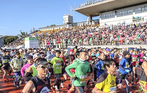 当日は1万6千人のマラソンランナーが参加