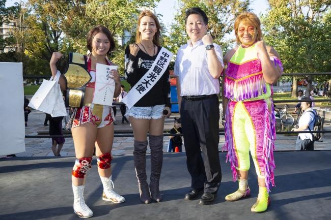ブル中野さんが「中野区観光大使」に就任、引退後初プロデュース