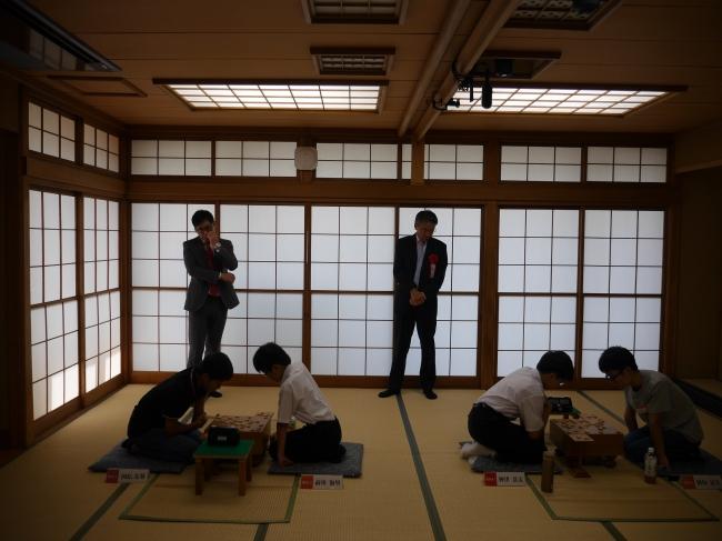 プロ棋士が使用する4階の対局室