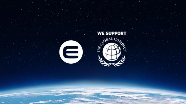 Enjinは、国連グローバル・コンパクトの企業責任イニシアチブと、人権、労働、環境、腐敗防止の分野におけるUNGCの原則に取り組んでいます。