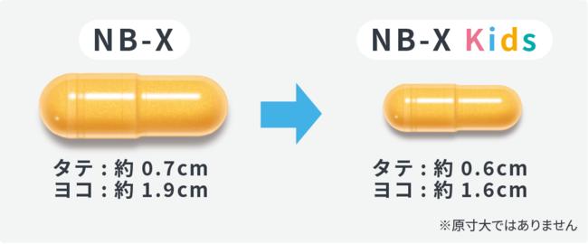 NB-X Kidsカプセルサイズ