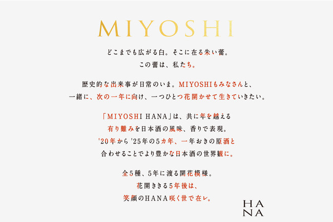 -MIYOSHI HANA コンセプト