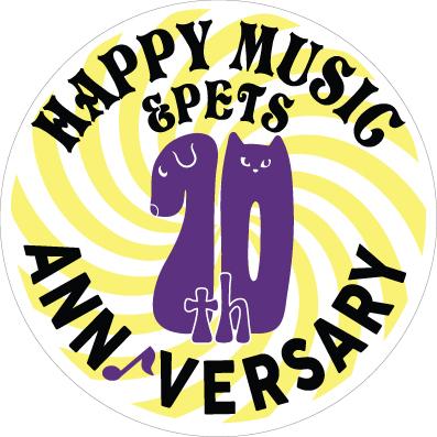 「HAPPY MUSIC & PETS」10周年ロゴマーク