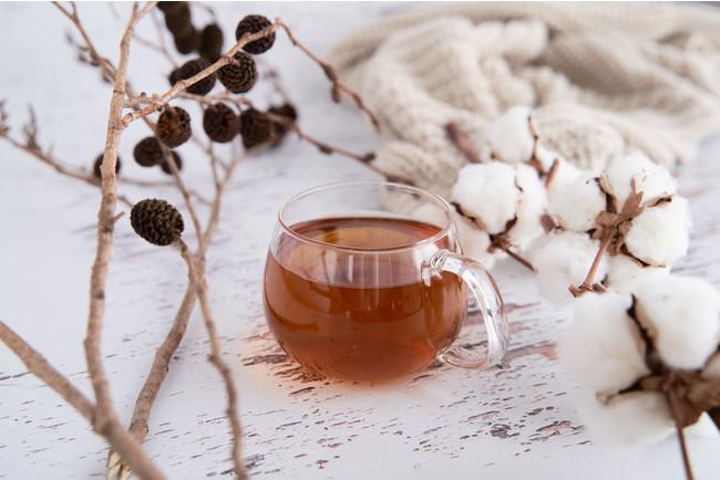 アンティークで撮影した紅茶