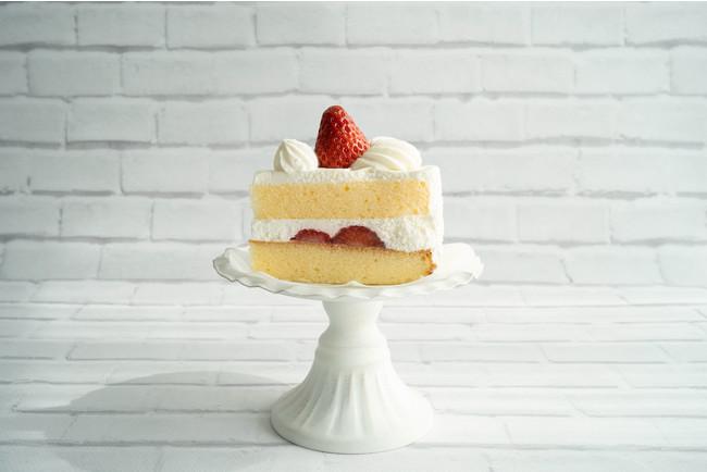 白レンガで撮影したケーキ