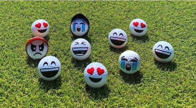 様々な表情のゴルフボール