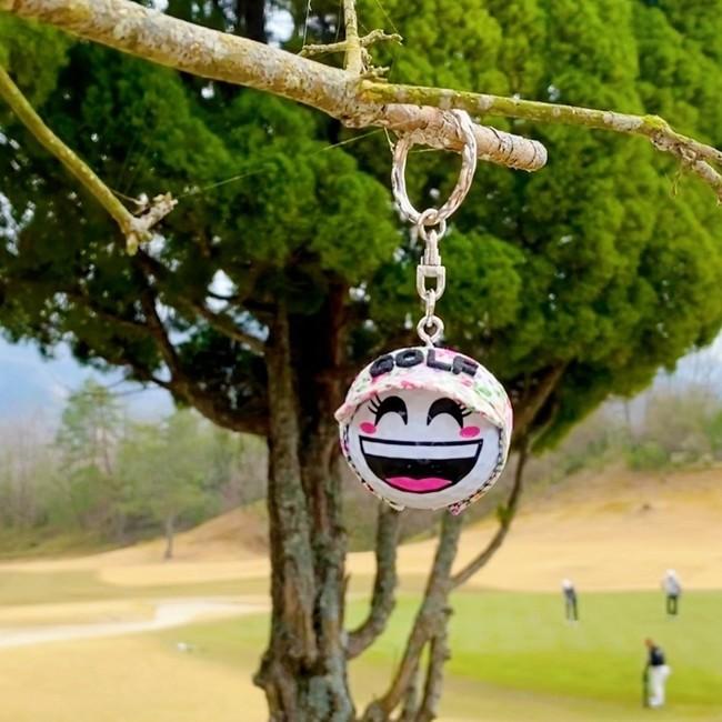 笑顔(女子)ゴルフボールキーホルダー(サンバイザーは別売)
