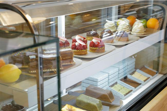 上段左から「ミルフィーユショコラ」「タルトショコラ苺」「タルトショコラカカオ」「モンブラン」