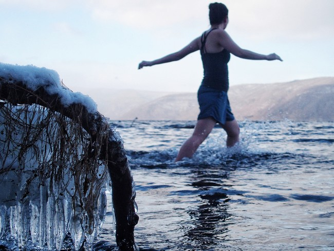 水風呂は十和田湖