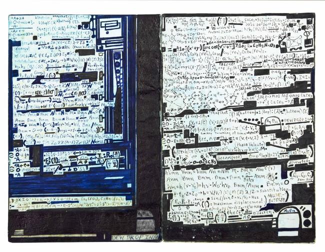 メルヴィン・ウェイ《無題》 2000年 インク、セロハンテープ、紙 22.6 ×30.4cm (C)collection abcd/Bruno Decharme