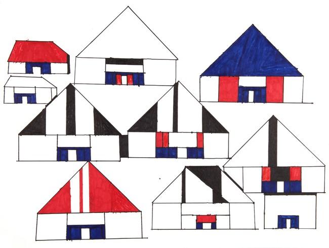 """コスティア・ボトキン 《無題》 2019年 ミクストメディア、紙 55×73cm Kostia BOTKINE,(C)La""""S""""Grand Atelier,B"""