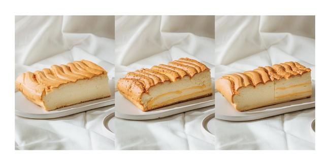 こちらは定番商品。左からプレーンカステラ(税込 962円)、チーズカステラ(税込 1,221円)、ハーフ&ハーフ(税込 1,113円 ※プレーンとチーズ入り)