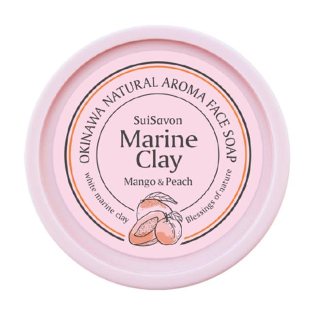 琉球のホワイトマリンクレイ洗顔石鹸(マンゴー&ピーチの香り)