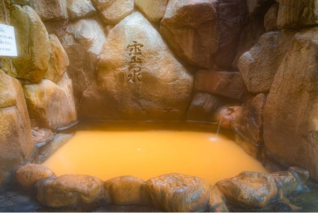 源泉掛け流し岩風呂