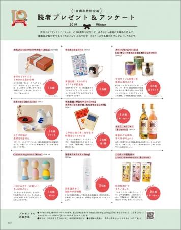 「10周年特別企画 読者プレゼント&アンケート」ページ