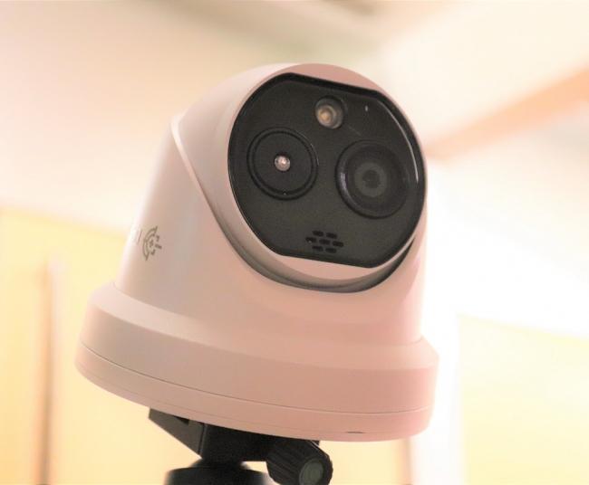 AI顔認識 体温検知ドーム型カメラ