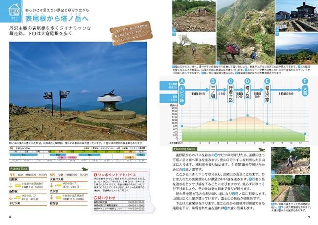 <ガイドページ例(関東版)「表尾根から塔ノ岳へ」>