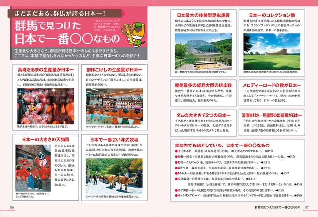 <「群馬で見つけた日本で一番○○なもの」ページ例>