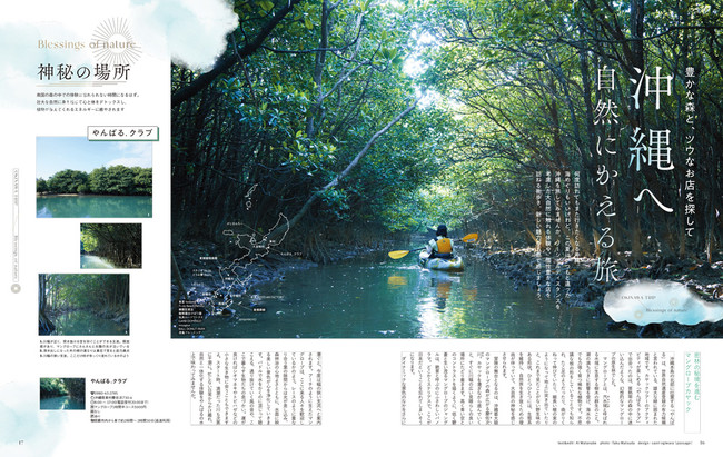 <「沖縄へ 自然にかえる」ページ例>