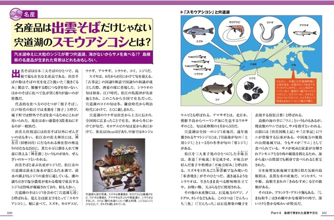 <『島根のトリセツ』産業・文化編のページ例2>