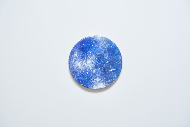【完成イメージ】レジン×岩絵具のオリジナルコースター