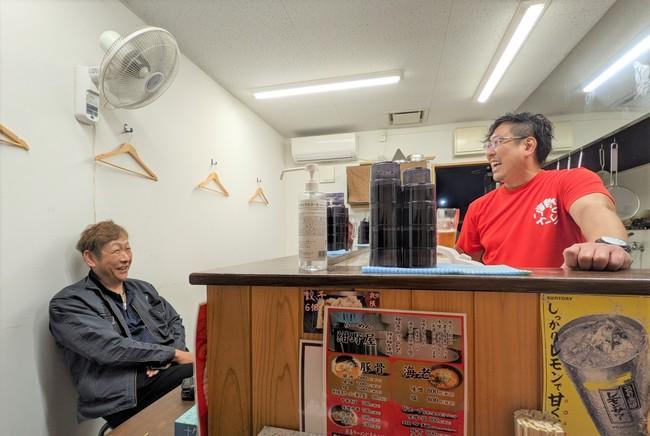 高田松原海水浴場再開への思い1. ~ 柴田見さん(左)・紺野学さん(右)
