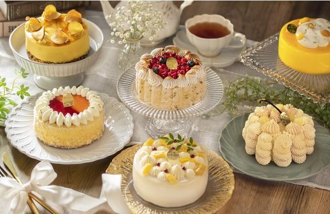 12か月、毎月季節に合わせたホールケーキをお届けします。