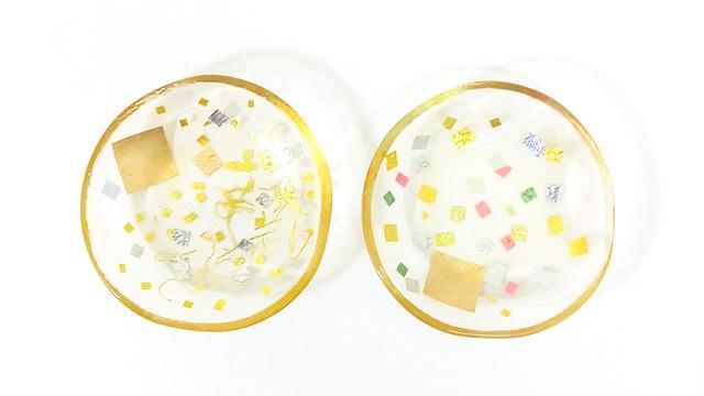 4,200円(税込)のご支援:砂子硝子 豆皿×1点