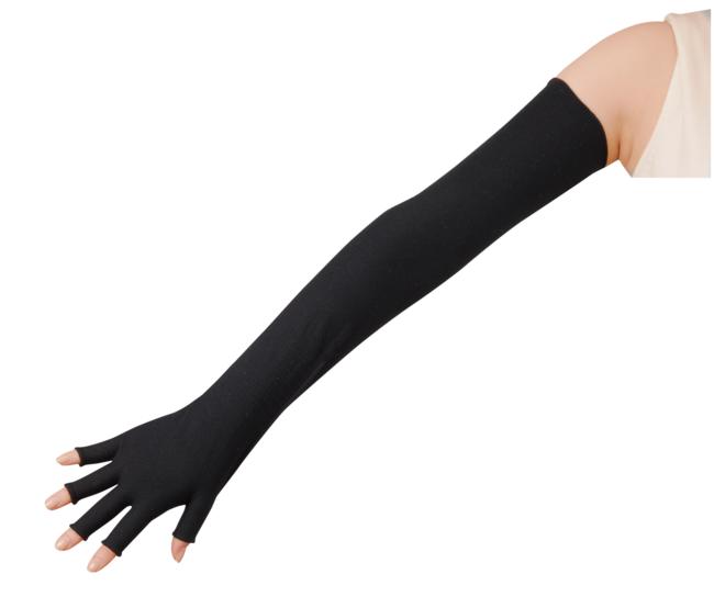 指先から腕までを覆える、余すことなくケアできる設計に。