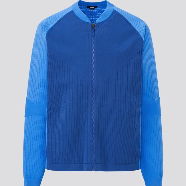 ニットジャケット   6,990円 軽量とストレッチ性を実現。発汗しやすい背中部分の通気性を向上