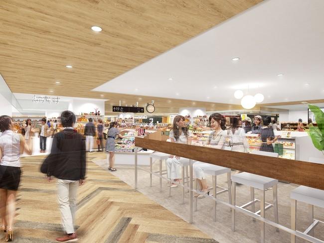3階カフェ・物販ゾーン(イメージ)