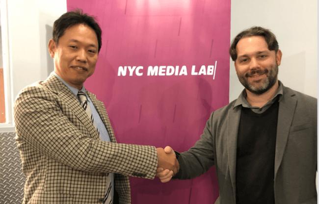 左)博報堂 研究開発局局長 青木雅人  右)NYC Media Lab Executive Director Justin Hendrix氏