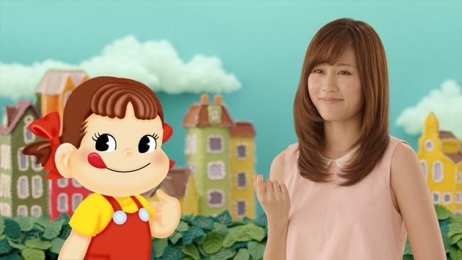 前田敦子さんとペコちゃん