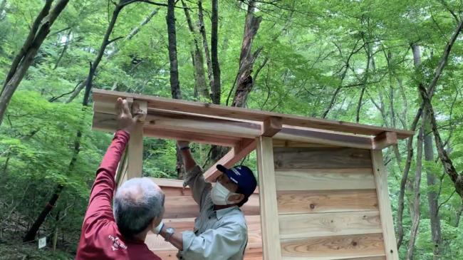屋根を被せる