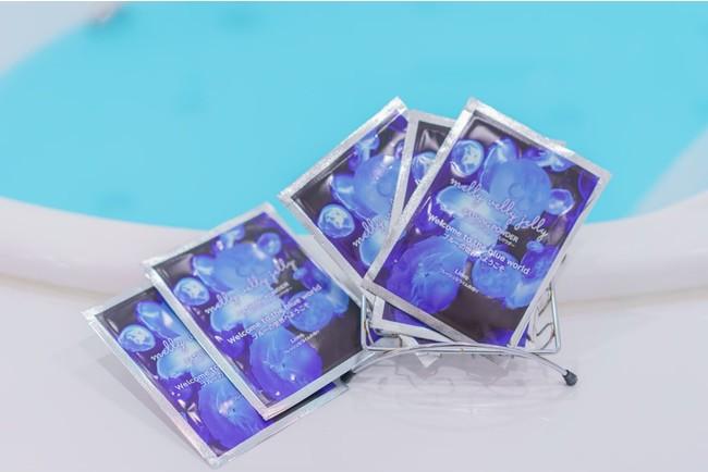 ミズクラゲをイメージしたライトブルーのオリジナル入浴剤(ライムの香り)
