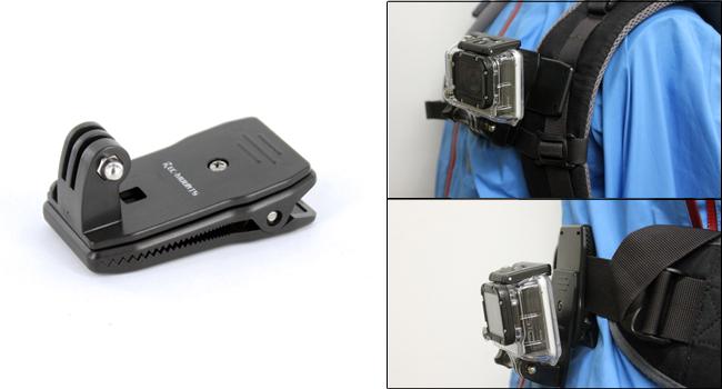 GoProカメラ用 便利な回転式クリップマウント発売