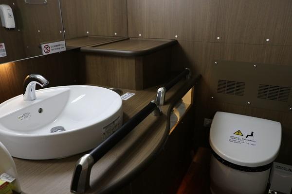 洗面台付き化粧室(トイレ)がついています