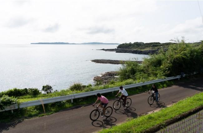 ヴィラ周辺には絶景スポットがたくさんあります ガイドと一緒にサイクリングするツアーもあり