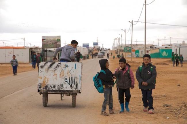 ヨルダン北部のザアタリ難民キャンプ