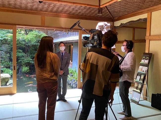 テレビ局からも取材を受けました