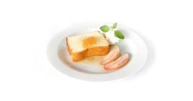 旬の桃添えチーズケーキ