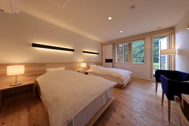 A-TYPE:素泊まりやビジネス利用に最適なシンプルデザインなツインルーム