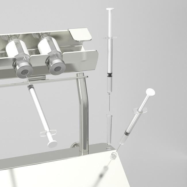 針キャップホルダーで針刺し事故防止
